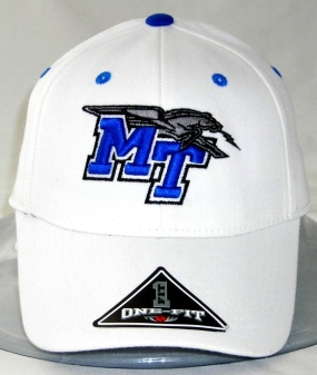 Middle Tennessee State Blue Raiders White One Fit Hat