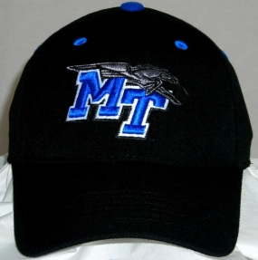 Middle Tennessee State Blue Raiders Black One Fit Hat