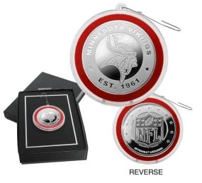 Minnesota Vikings Silver Coin Ornament