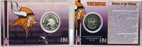Minnesota Vikings Team History Coin Card