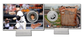 Matt Wieters Silver Plate Coin Card