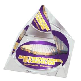 Minnesota Vikings Crystal Pyramid