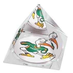 Miami Hurricanes Crystal Pyramid