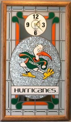 Miami Hurricanes Wall Clock