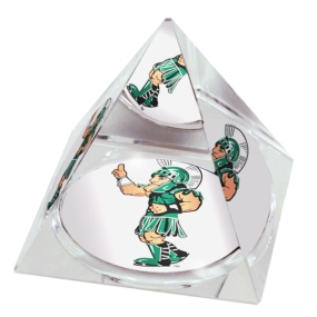 Michigan State Spartans Crystal Pyramid