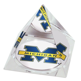 Michigan Wolverines Crystal Pyramid