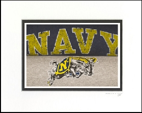 Navy Midshipmen Vintage T-Shirt Sports Art