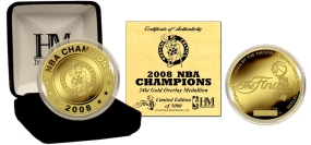 Boston Celtics 24KT Gold 2008 NBA Champions Coin