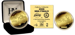 2008 NBA Finals Dueling Logo's 24KT Gold plated Coin Celtics Lakers vs. Celtics