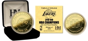 2010 NBA Champions 24KT Gold Coin