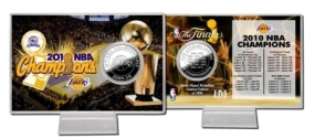2010 NBA Champions Silver Coin Card
