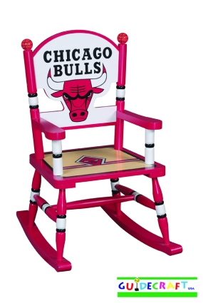 Chicago Bulls Kid's Rocking Chair
