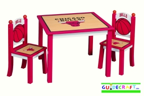 Chicago Bulls Youth Table and Chairs