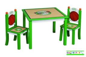 Boston Celtics Youth Table and Chairs
