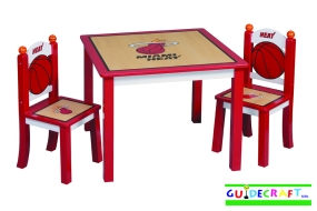 Miami Heat Youth Table and Chairs