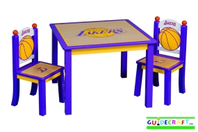 Los Angeles Lakers Youth Table and Chairs