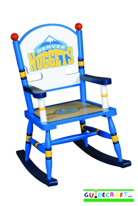 Denver Nuggets Kid's Rocking Chair