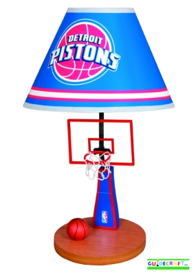 Detroit Pistons Table Lamp