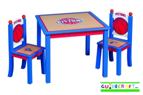 Detroit Pistons Youth Table and Chairs