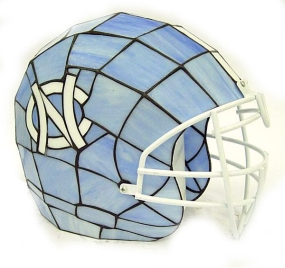 North Carolina Tar Heels Glass Helmet Lamp