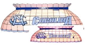 North Carolina Tar Heels Pool Table Light