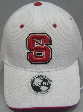 N.C. State Wolfpack White Elite One Fit Hat