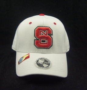 N.C. State Wolfpack White One Fit Hat