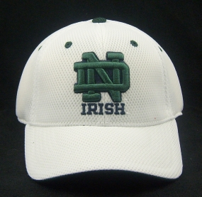 Notre Dame Fighting Irish White Elite One Fit Hat