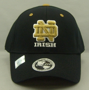 Notre Dame Fighting Irish Black One Fit Hat