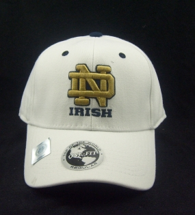 Notre Dame Fighting Irish White One Fit Hat