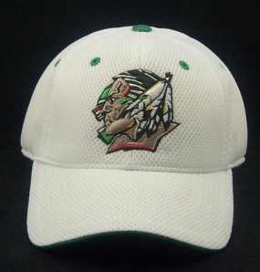 North Dakota Fighting Sioux White Elite One Fit Hat