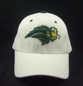 North Dakota State Bison White One Fit Hat