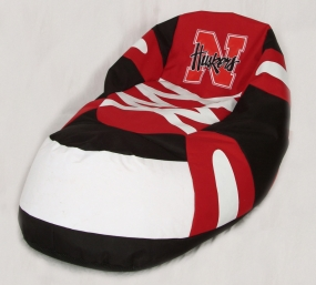 Nebraska Cornhuskers Bean Bag Boot Slipper Chair