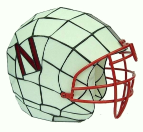 Nebraska Cornhuskers Glass Helmet Lamp