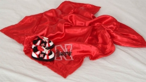 Nebraska Cornhuskers Baby Blanket and Slippers