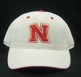 Nebraska Cornhuskers White Elite One Fit Hat
