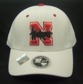 Nebraska Cornhuskers White One Fit Hat