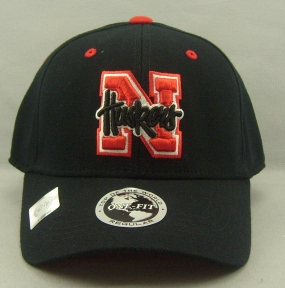 Nebraska Cornhuskers Black One Fit Hat