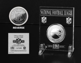 New England Patriots Silver Game Coin