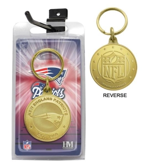 New England Patriots Bronze Bullion Keychain