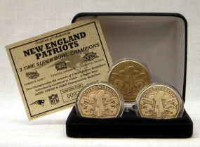 New England Patriots Bronze Super Bowl Collection