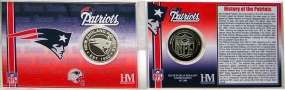 New England Patriots Team History Coin Card