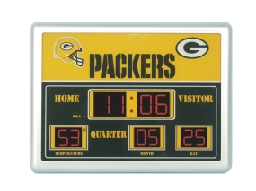 Green Bay Packers Scoreboard Clock