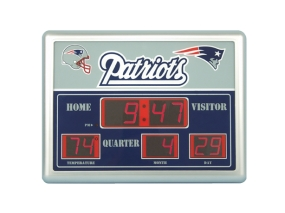 New England Patriots Scoreboard Clock