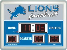 Detroit Lions Scoreboard Clock