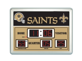 New Orleans Saints Scoreboard Clock