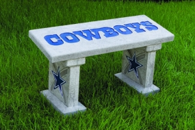 Dallas Cowboys Concrete Bench