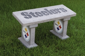 Pittsburgh Steelers Concrete Bench