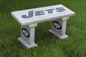 New York Jets Concrete Bench