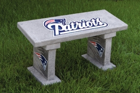 New England Patriots Concrete Bench